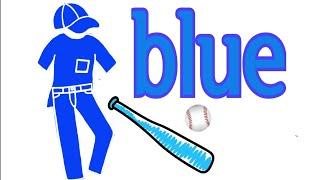 파란색옷 그리기 영어색깔 배우기   Sunny Art …
