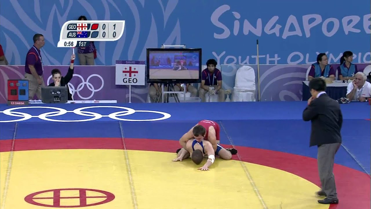 Wrestling preliminaries singapore 2010 youth games youtube