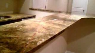 Rainforest Green Marble Wet Bar