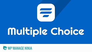 Multiple Choice Field in WP Fluent Form WordPress Plugin