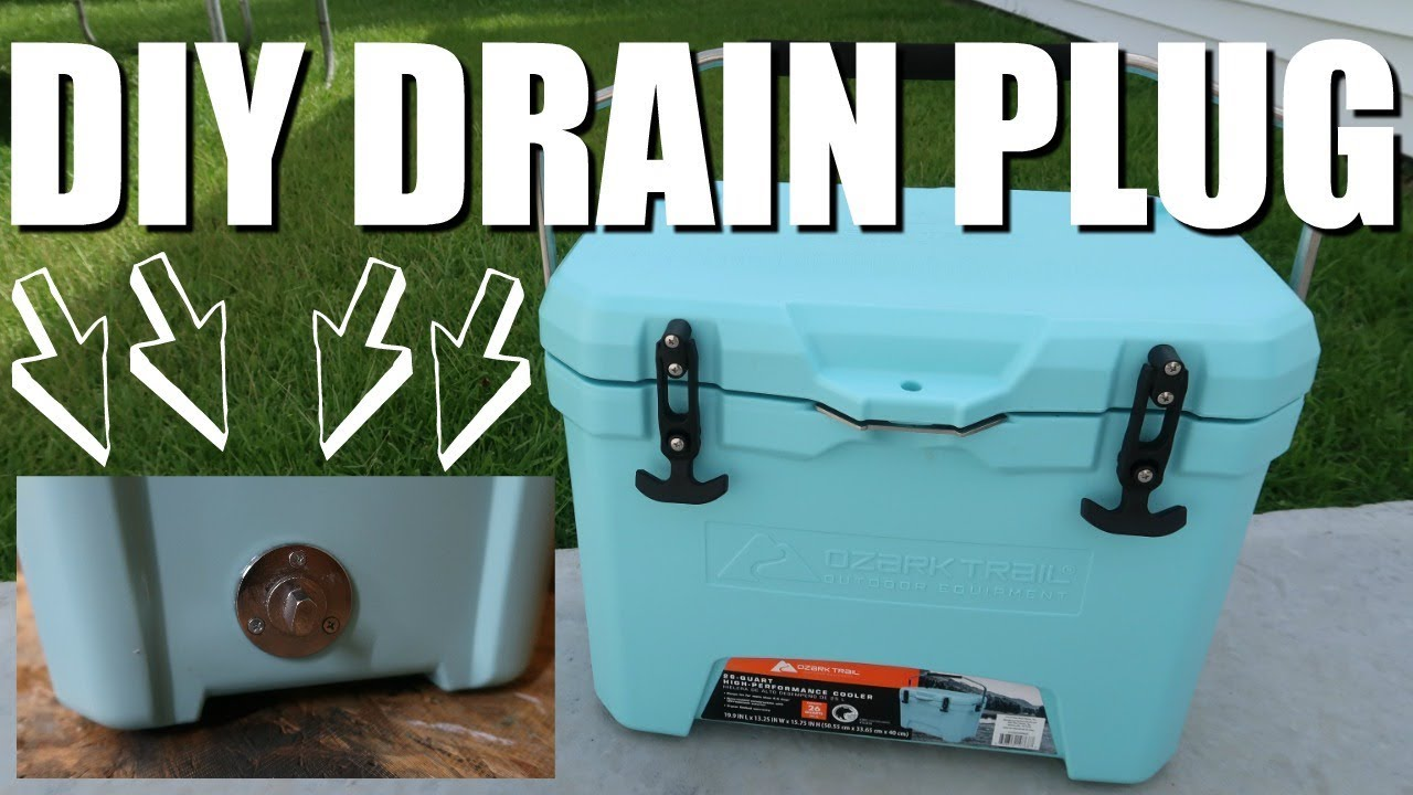 Install A Drain Plug To Your Cooler | Cooler Accessories
