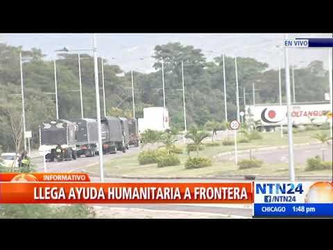 Llegan a Cúcuta los primeros camiones con ayuda humanitaria para Venezuela