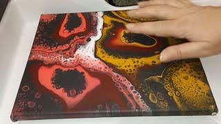 Акриловая заливка.Схема точечного разнесения рисунка. Урок начинающим. AcrylicFludPouring