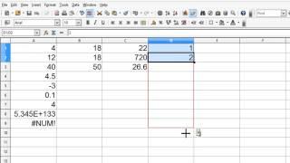 OpenOffice Calc 4 Tutorial 4 - Formulas And Calculations - Make A Fibonacci Number List screenshot 5