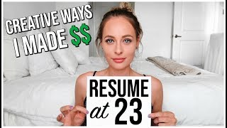 RESUME OF A 23 YEAR OLD | Job Experience: Teenager, College, Real Estate, YouTube, Law of Attraction