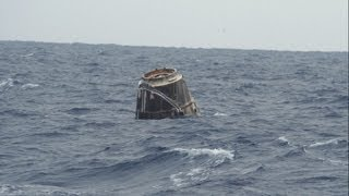Space X Dragon Parachutes into the Ocean | NASA ISS Space Station P-3 Orion Video