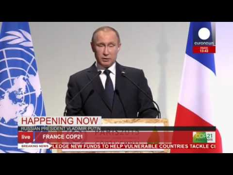 COP 21: Putin's full speech on Russia climate change reform - live