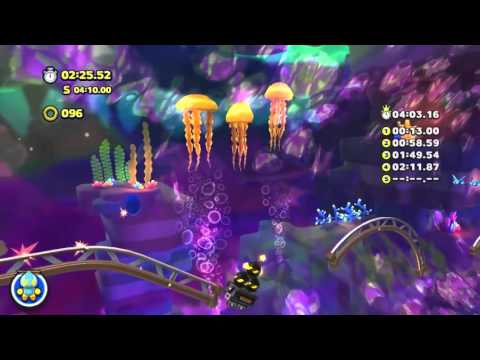 Sonic Lost World (PC) - Lava Mountain Zone 2 Time Trial