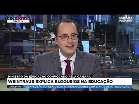 Ministro Weintraub explica os bloqueios na educação
