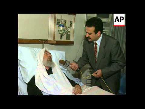 JORDAN: AMMAN: HAMAS LEADER SHEIK AHMED YASSIN SPEAKS TO PRESS