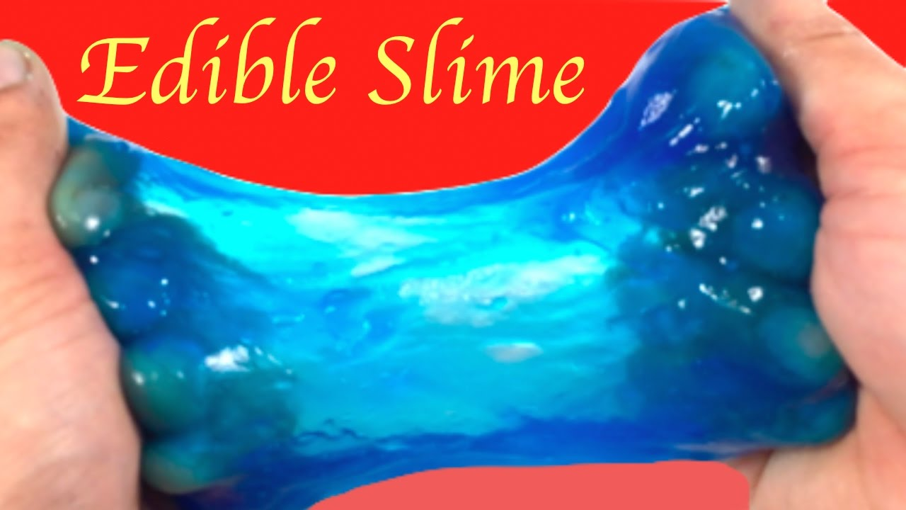 Diy How To Make Edible Slime Without Glue ,borax,detergent,baking Soda Or  Liquid Starch!!