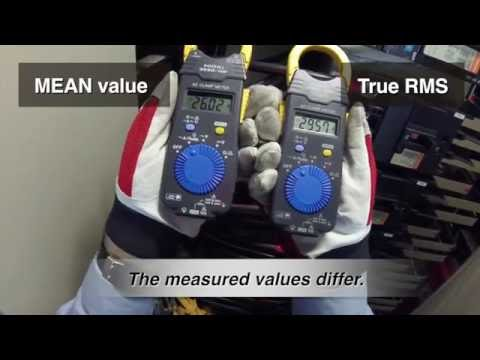 Using 3280 series AC clamp meters: Difference between mean value and true RMS measurement