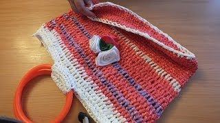 №2 Сумка крючком Вязание из целлофановых пакетов Сумка из пакетов Crochet Bag