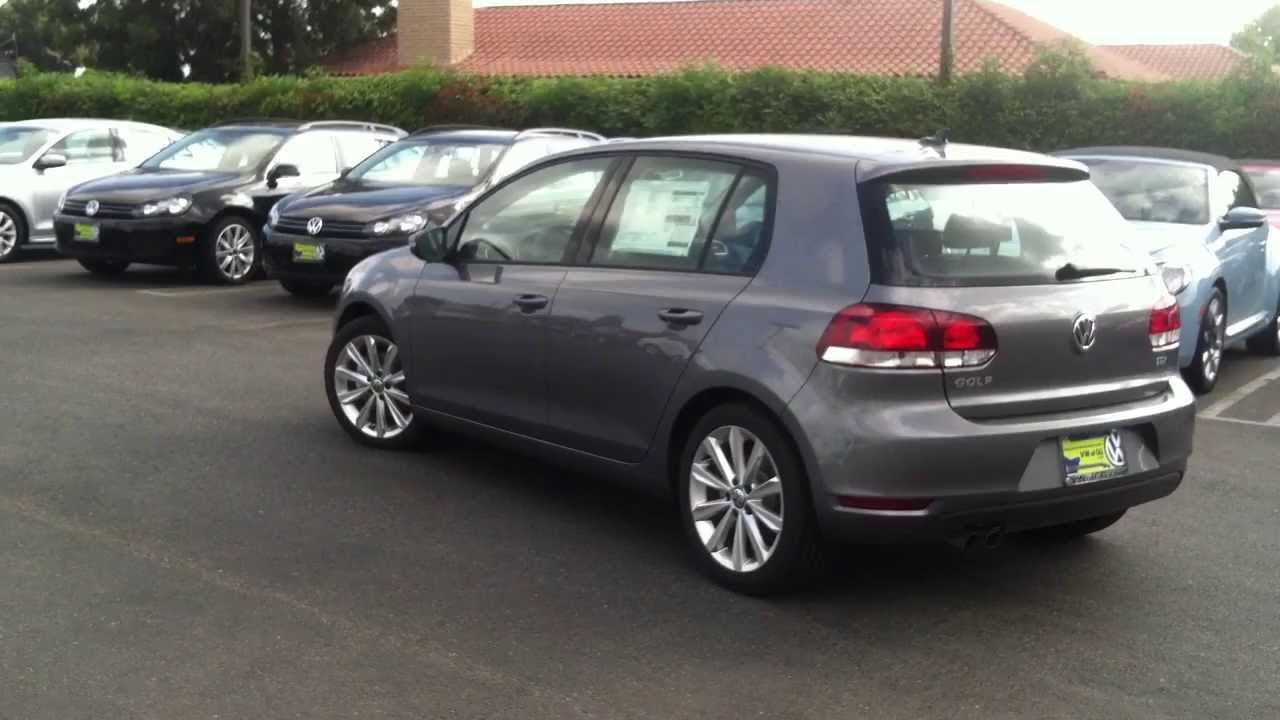 2013 Golf TDI w/ Sunroof and Navigation (United Grey) - Volkswagen of Garden Grove - YouTube