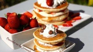 Recette Facile De Pancakes Américains/perfect Buttermilk Pancakes From Scratch-sousoukitchen