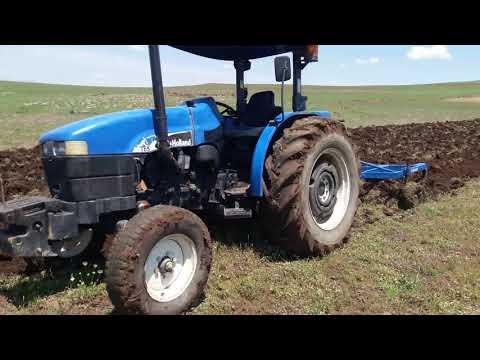Alpler 4 lu pullukla 65 hp traktörün çamurlu tarladaki imtihanı