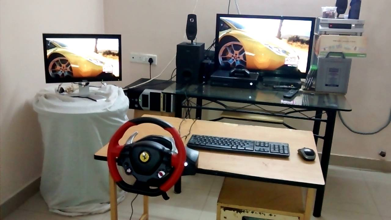 my xbox one setup with 39 thrustmaster ferrari 458 spider. Black Bedroom Furniture Sets. Home Design Ideas