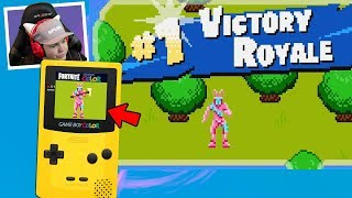 PLAYING Fortnite on the GAMEBOY mobile... (Gameplay Reaction)