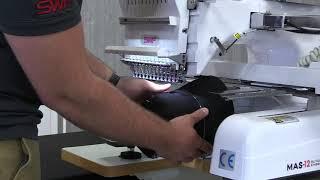 18-SWF Patented Quick Change Cap System SWF MAS-12 Embroidery Machine Tutorial