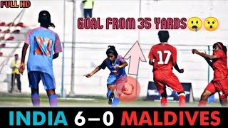 India vs Maldives || 6 - 0 Full MATCH EXTENDED HIGHLIGHTS || FULL HD