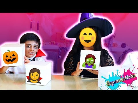 Slime with mysterious Halloween boxes (showing my face) - Supermanualidades