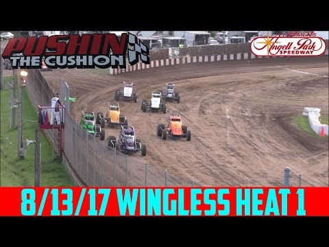 Angell Park Speedway - 8/13/17 - Wingless Sprints - Heat 1