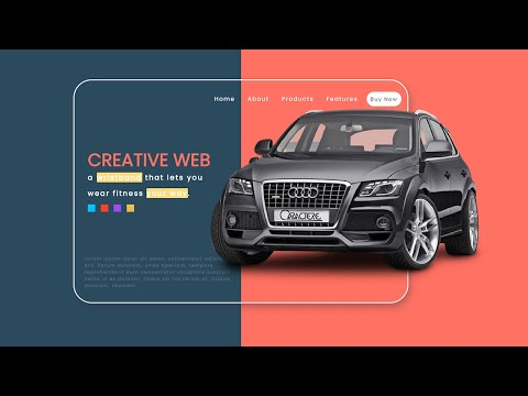 How To Make Landing Page Header Design Using HTML CSS JQuery - Web Design