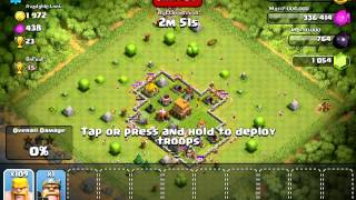 Clash of clans - 180 barbarian attack