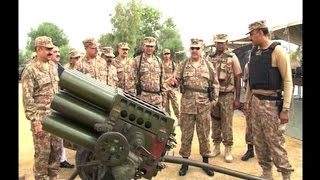 Pakistan army shows off weaponry seized from militants