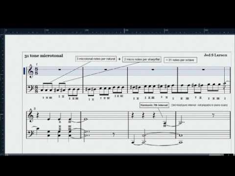 Microtonal scale (31 tone/octave) and Harmonic Seventh Chord