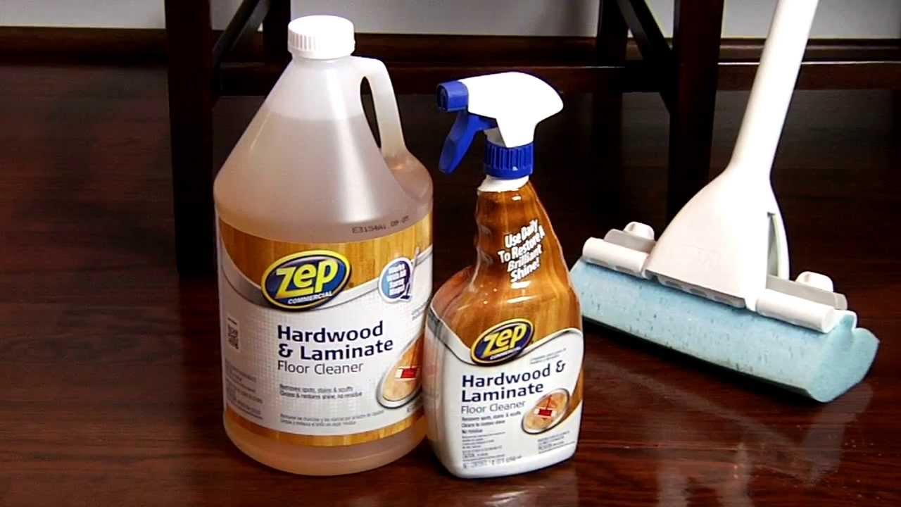Zep commercial hardwood laminate floor cleaner youtube for Hardwood floor cleaner