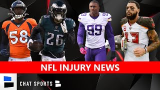 NFL Rumors & News On Miles Sanders, Danielle Hunter & Mike Evans Injury Updates + Von Miller Latest