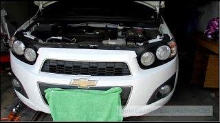 Как снять передний бампер Chevrolet Aveo T300 2012 Sonic
