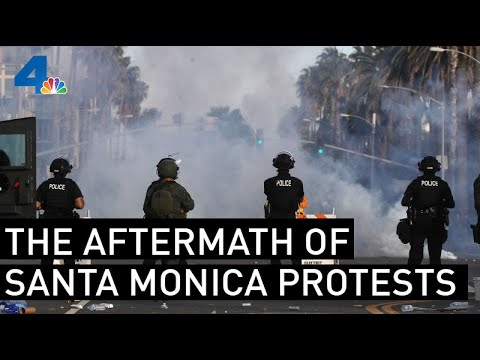 Aftermath of Santa Monica Looting Shows City in Ruins   NBCLA