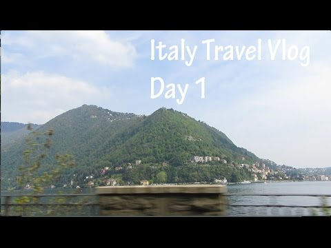 Italy Travel Vlog 1- Lake Como|Clooney House|Pizza