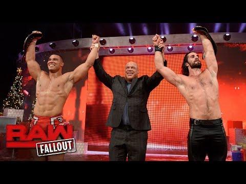 Kurt Angle engages in emotional post-match celebration with Jason Jordan: Raw Fallout, Dec. 25, 2017