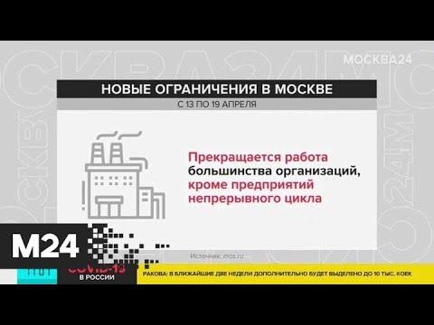 Какие еще ограничения введут в Москве? - Москва 24