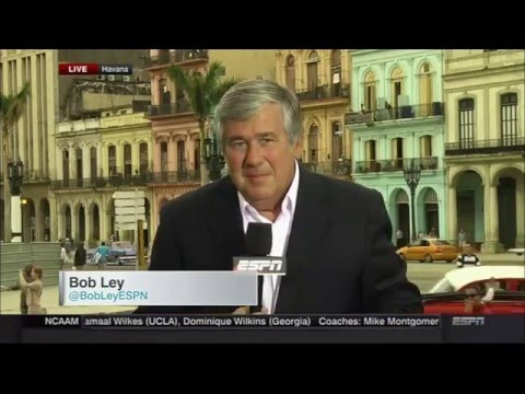 ESPN's Bob Ley Interrupted by Cuban Protesters in Havana
