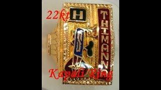 22kt Handmade Gold Enamel Kapali Ring
