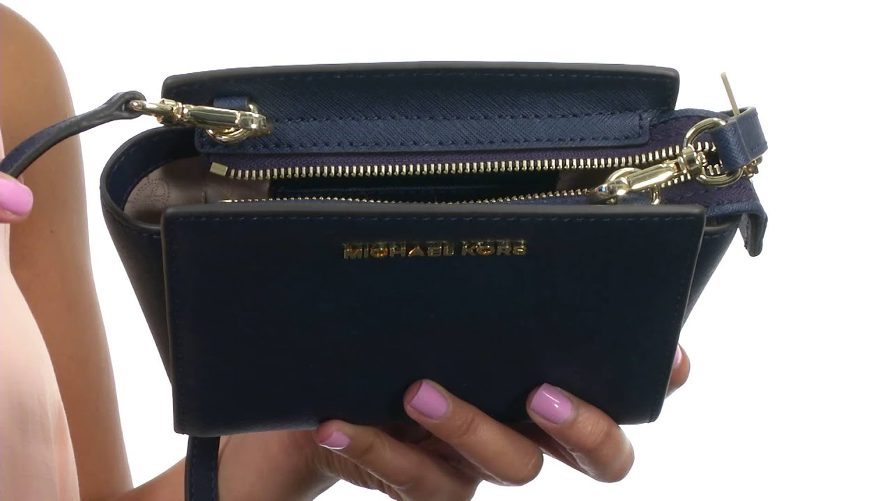 ebba423bd4a41e MICHAEL Michael Kors Selma Mini Messenger SKU:8258053 - YouTube