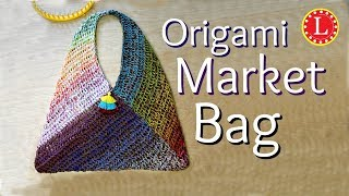 LOOM KNITTING Origami Market Bag (On Any Loom with 41 Pegs)