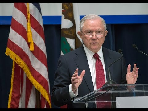 Watch U.S. Attorney General Jeff Sessions take on California's immigration policies