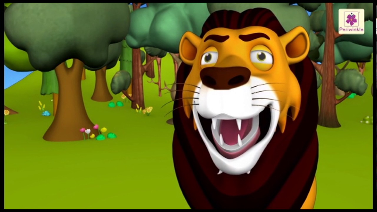 Sher Jungle Ka Raja | 3D Hindi Rhyme For Kids | Periwinkle Baal Geet Mala |  Hindi Poem #36