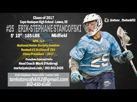 Erik-Stéphane Stancofski's 2016 Highlights, Cape Henlopen High School