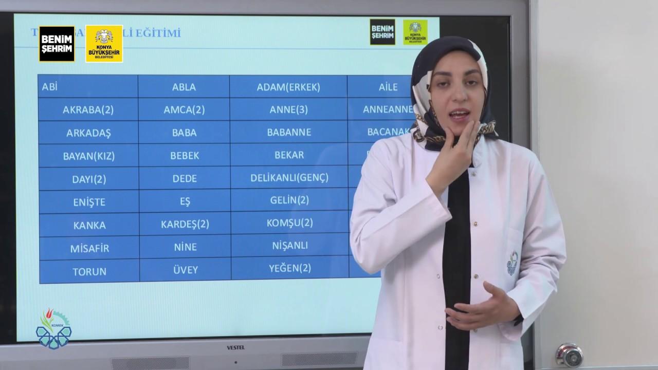Türk İşaret Dili Eğitimi I Ders 1