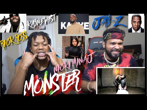 #TBT !!!! Kanye West - Monster Nicki Minaj, Rick Ross, Jay-Z,  (Official Music Video) | FVO Reaction