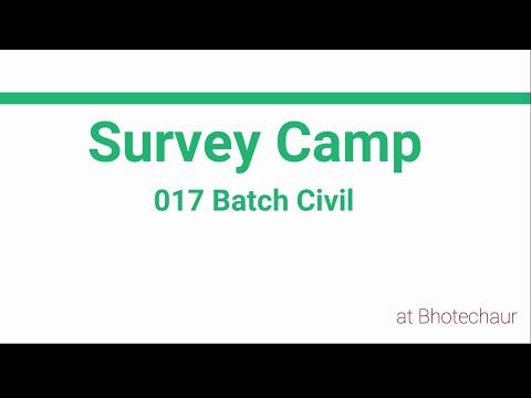 Survey Camp 017 Batch Civil    Nepal Engineering College    @ Bhotechaur-1, Melamchi; Sindhupalchowk