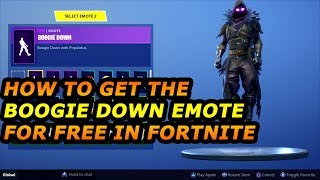 How To Get The BOOGIE DOWN Emote for FREE in FORTNITE Quick & Easy