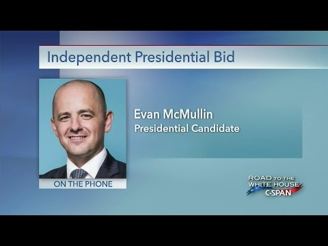 Independent Presidential Candidate Evan McMullin & running mate Mindy Finn (C-SPAN)