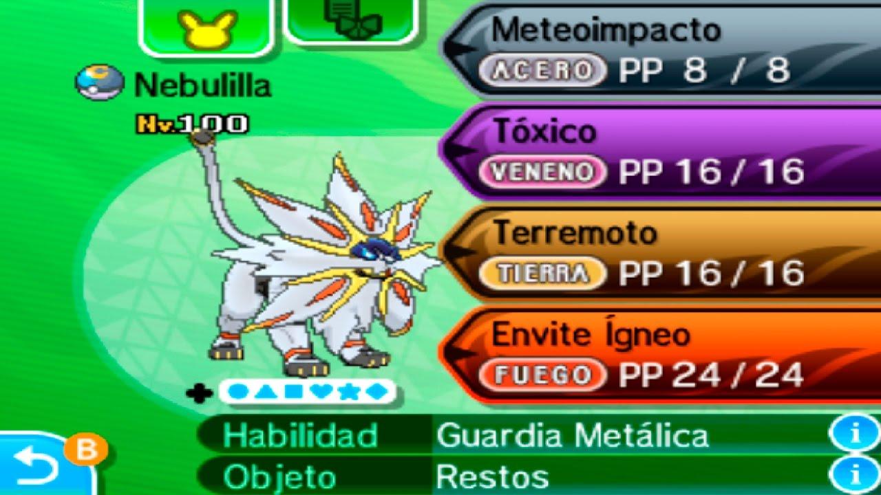 Reparto Solgaleo Competitivo Sorpresa Shiny Pokémon Sol Y Luna